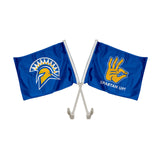 "San Jose State Spartans ""SPARTAN UP"" Hand Sign Car Flag"