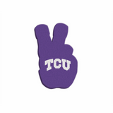 "TCU Horned Frogs ""KNUCKLE UP"" Hand Sign Foam Hand/Foam Finger"