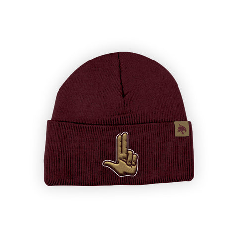 "Texas State Bobcats ""HEART OF TEXAS"" Hand Sign Beanie"