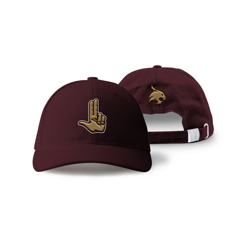 "Texas State Bobcats ""HEART OF TEXAS"" Hand Sign Hat"