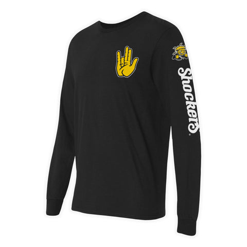 "Wichita State Shockers ""SHOCKER"" Hand Sign Long Sleeve Shirt"