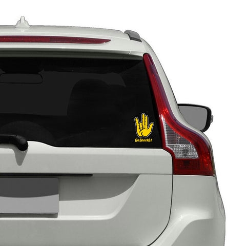 "Wichita State Shockers ""SHOCKER"" Hand Sign Decal"