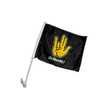 "Wichita State Shockers ""SHOCKER"" Hand Sign Car Flag"