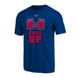 "Florida Atlantic FAU Owls ""OWLS UP"" Hand Sign T-Shirt"