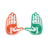 "Miami Hurricanes ""THE U"" Hand Sign Foam Hands/Foam Fingers"