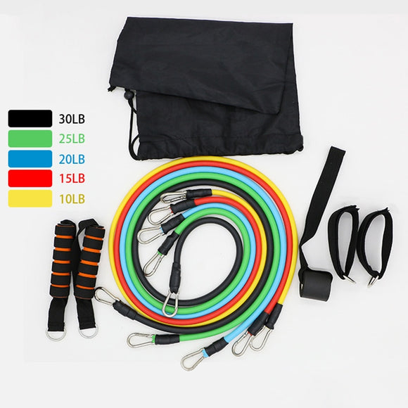 17 Piece Resistance Bands Set