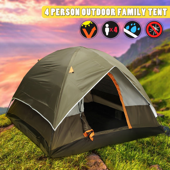 Large 4 Person Dual Layer Waterproof Tent