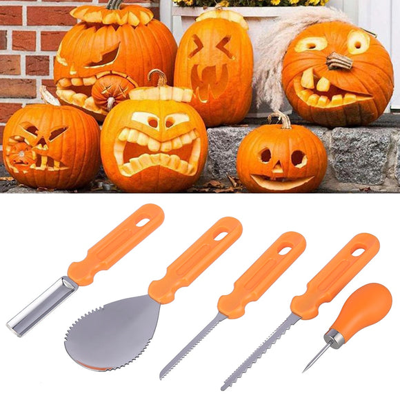 5 Piece Pumpkin Carving Tool Kit