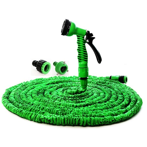 Expandable Garden Hose With Selectable Spray