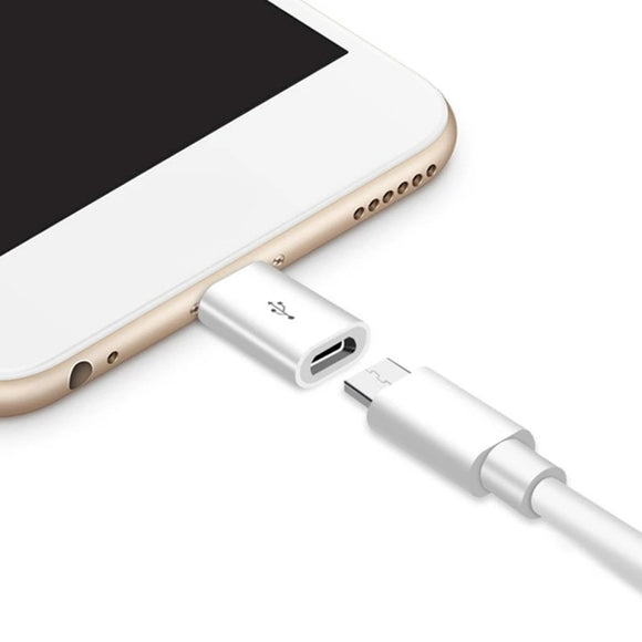 Lightning to micro usb converter