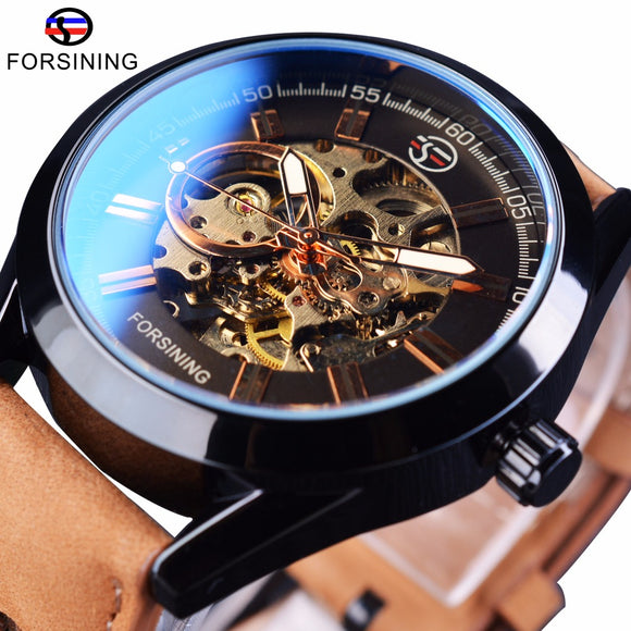 Mens Casual Sport Skeleton Watch
