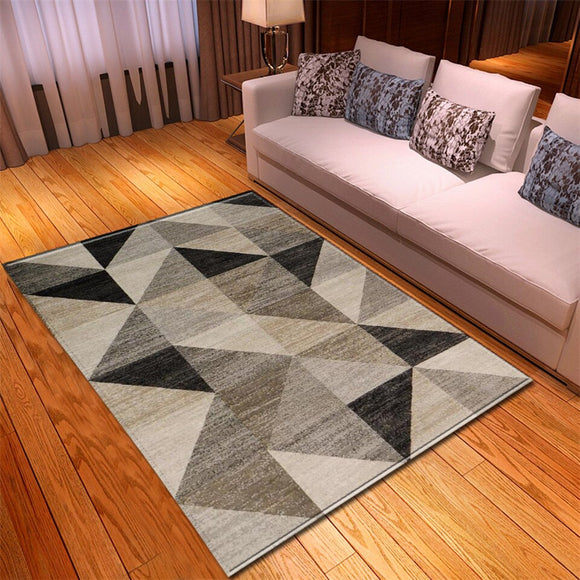Neutral Geometric Triangle Rug