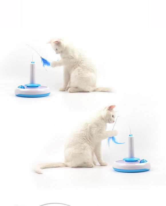 Electric Teaser Interactive Rotating Cat Toy
