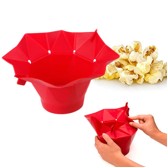 Silicone Folding Bucket Microwave Popcorn Machine