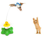 Electric Rotating Colorful Birdie For Cats