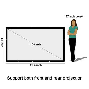 100 to 300 Inch Projector Screen Canvas Matt