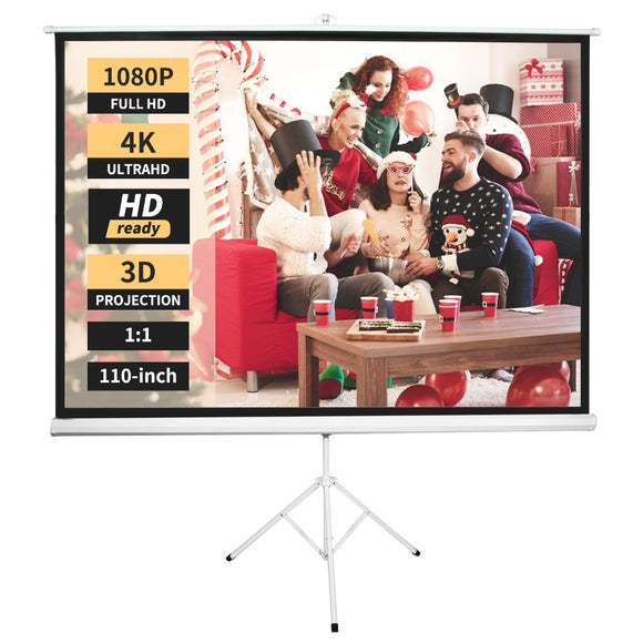 110 Inch Projector Screen with Stand