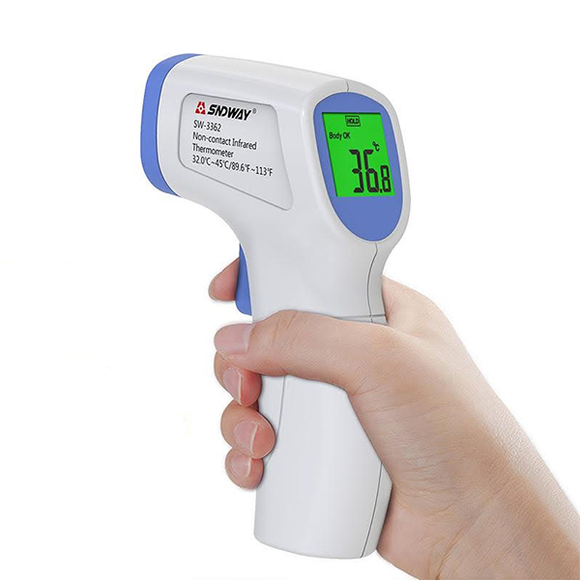 MEDICAL-GRADE NO-TOUCH INFRARED BODY TEMPERATURE THERMOMETER