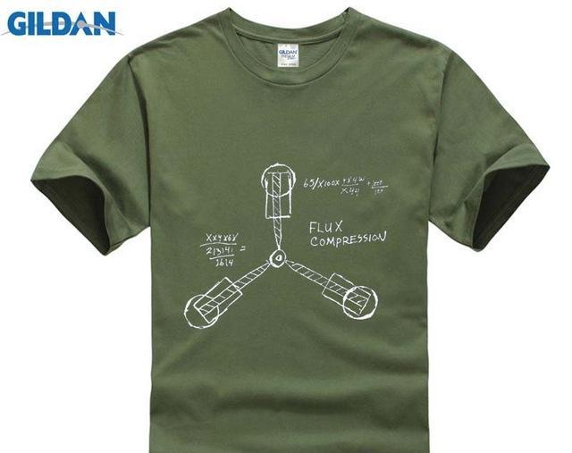 Fashion Short Sleeve T Shirt-Back to the Future Cult Film-Flux Capacitor