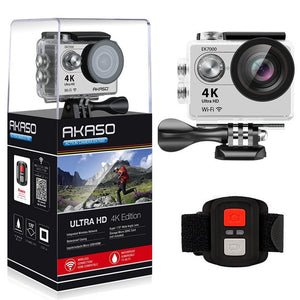 4K WIFI Outdoor Action Camera Video Bundle for Extreme Sports