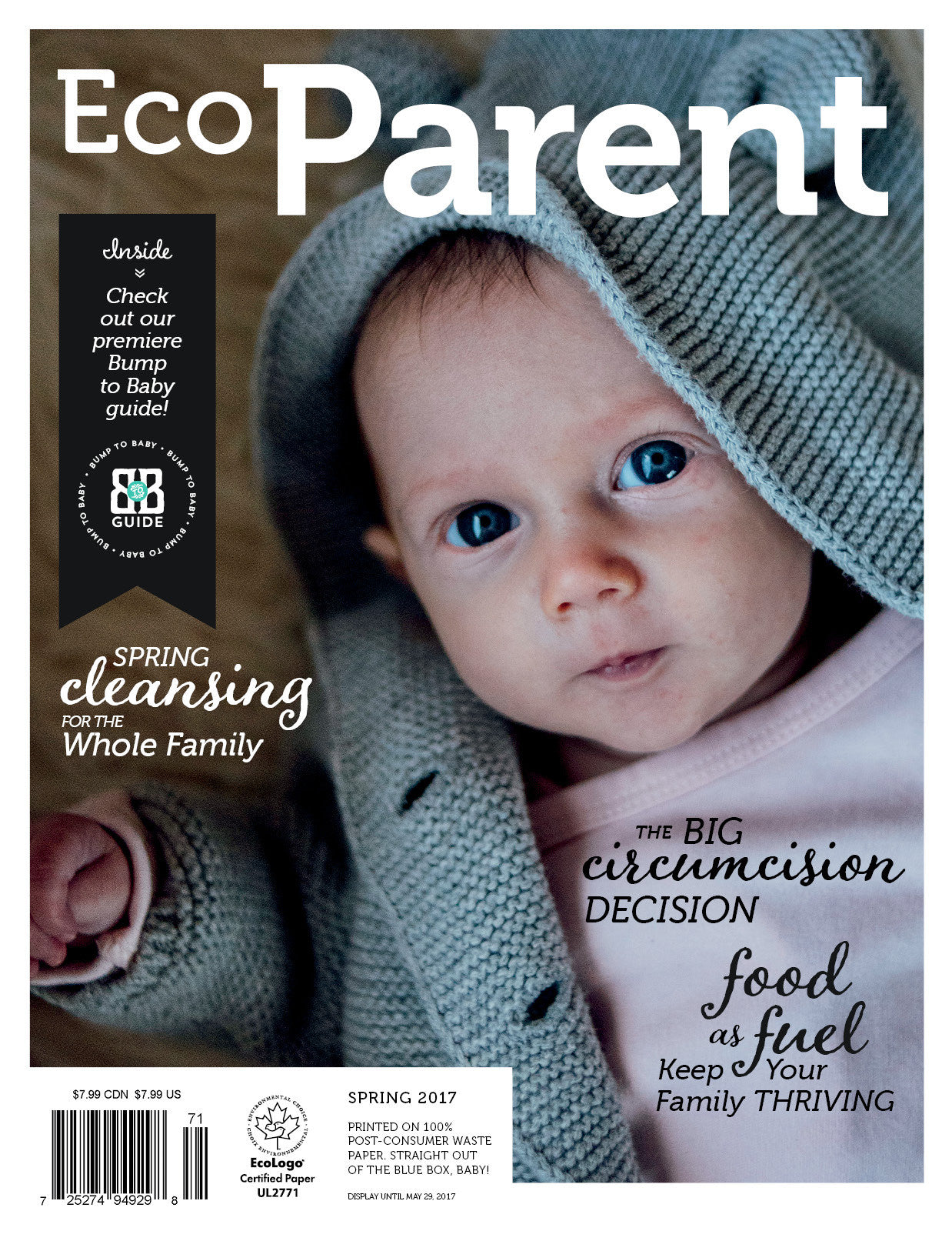 EcoParent Magazine Front Cover With Baby