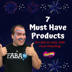 7 Must have Products for 4th of July and USA Face Painting