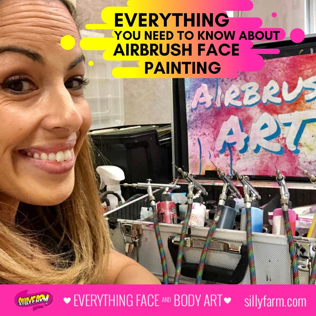 Everything You Need to Know About Airbrush Face Painting | Silly Farm Supplies