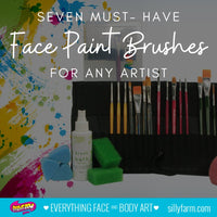 Seven Must-Have Face Paint Brushes for Any Artist