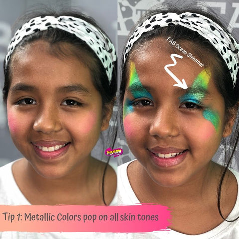 Step by step fairy face painting design