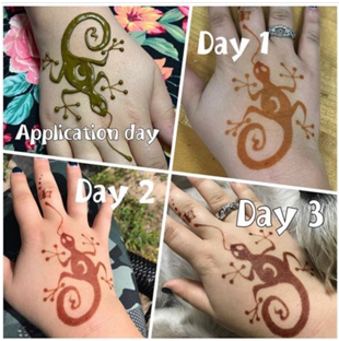 Henna staining stages
