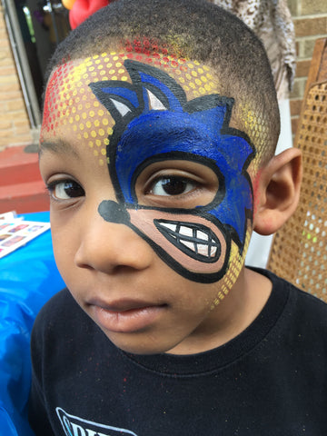 sonic the hedgehog face paint