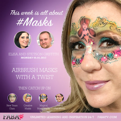 Airbrush Masks with a Twist FABATv Class