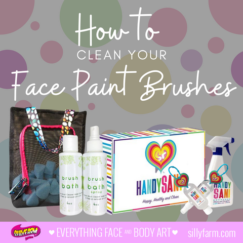 How to clean your face paint brushes