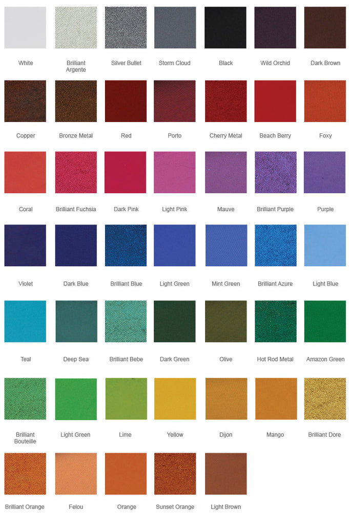 Paradise Build Your Own Palette Color Chart