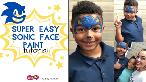 Sonic the hedgehog face painting tutorial