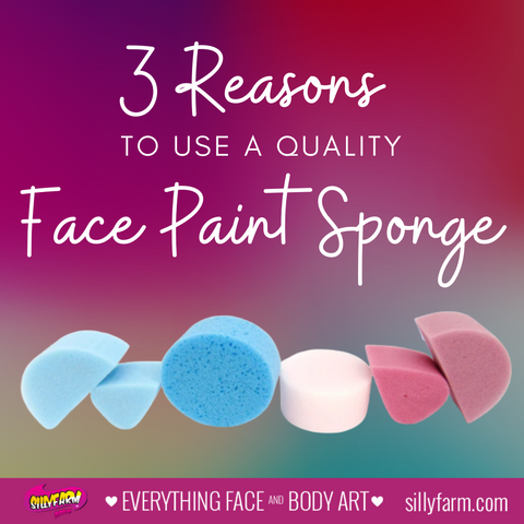 3 Reasons to use a quality face paint sponge