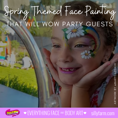 Spring Themed Face Painting