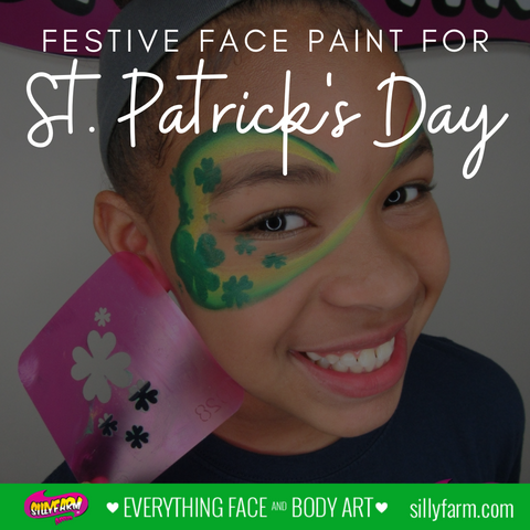 Festival Face Paint for St. Patrick's Day