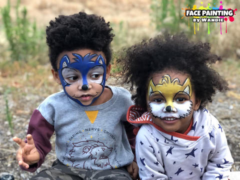 sonic and TAILS FACE PAINTING