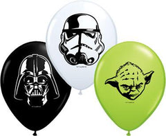 5in. Star Wars Faces Assorted Qualatex Balloons 100 ct - Silly Farm Supplies