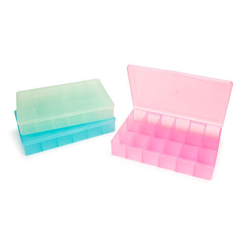 Rectangular Bling 17- Compartment Container