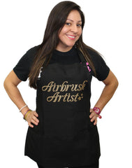 Airbrush Artist Black with Gold Apron - Silly Farm Supplies