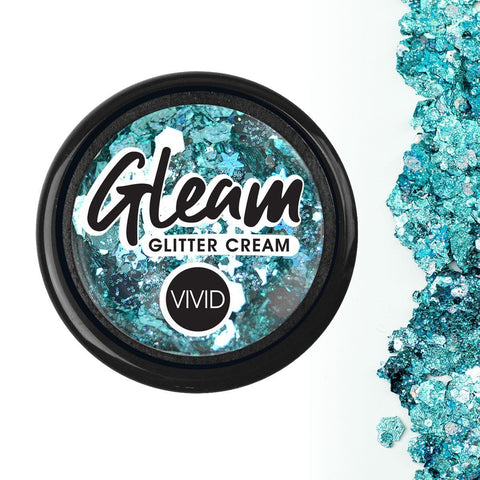 Angelic Ice Gleam Chunky Glitter Cream 10g Jar by Vivid Glitter