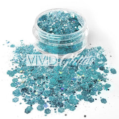 Angelic Ice Loose Glitter Jar 7.5g by Vivid Glitter - Silly Farm Supplies