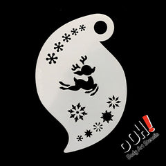 Baby Reindeer Storm Face Paint Stencil by Ooh! Body Art (R07) - Silly Farm Supplies