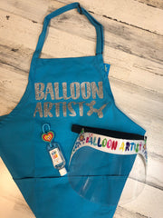 Balloon Artist Perfect Pair- Includes Apron and Face Shield