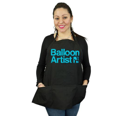 Balloon Artist Black with Teal Apron