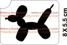 Balloon Dog Glitter Tattoo Y-Body Stencil 5 pack - Silly Farm Supplies