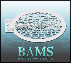 BAM1005 Bad Ass Mini Stencil - Silly Farm Supplies