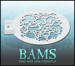 BAM1006 Bad Ass Mini Stencil - Silly Farm Supplies
